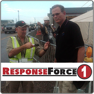 ResponseForce 1 scans with their mobile device solution.