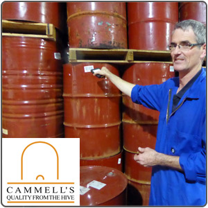 Inward Stock Processing and Tracking of Honey at Cammell's.
