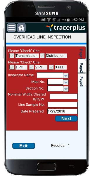 Overhead Line Inspection Application