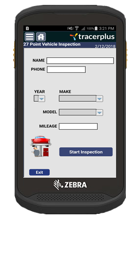 TracerPlus 27 Point Vehicle Inspection App