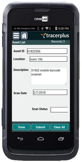 Asset Location Audit Add Assets
