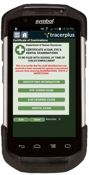TracerPlus Certificate of Examinations Mobile Application