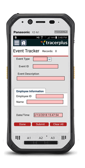 TracerPlus Corporate Event Tracking Application
