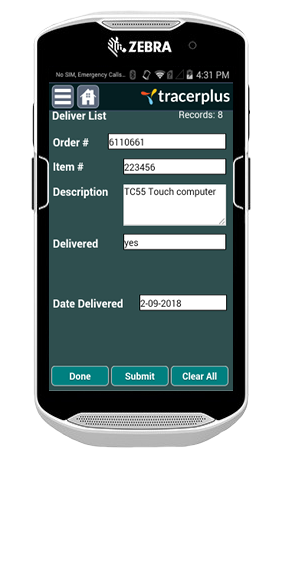 TracerPlus Delivery of Goods Application
