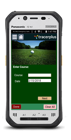 TracerPlus Golf Score Tracking Application