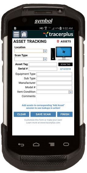 TracerPlus IT Asset Tracking Mobile Application