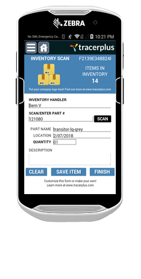 TracerPlus Inventory Control Mobile Application