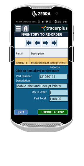 TracerPlus Inventory Manager Application