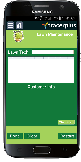 TracerPlus Lawn Maintenance Mobile App