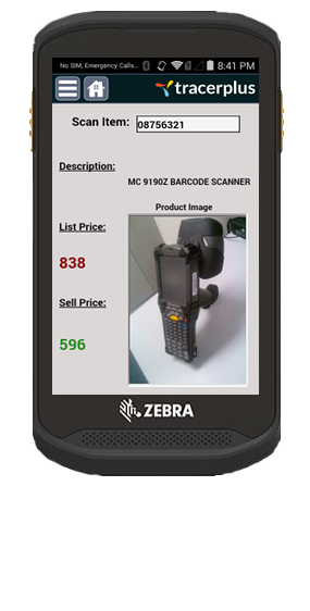 Mk500 Kiosk Price Check Mobile App Dev Tracerplus