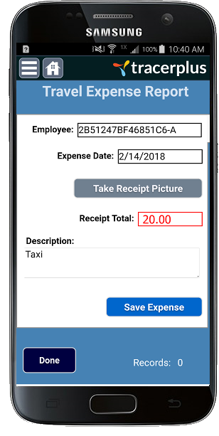 TracerPlus Expense Tracker Mobile App