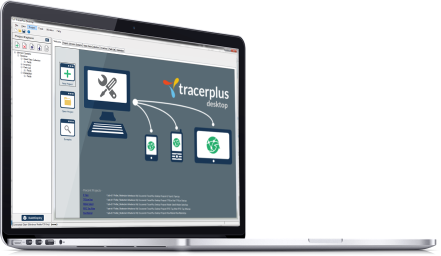 TracerPlus App Designer for iOS, Android and WIndows Mobile/CE