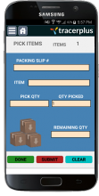 Pick and Pack mobile application